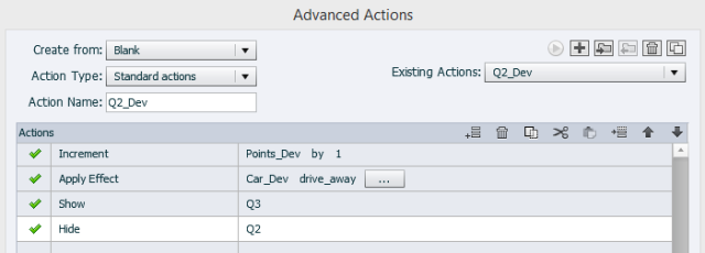 Advanced Action