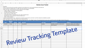 time tracking template for instructional design experiencing e