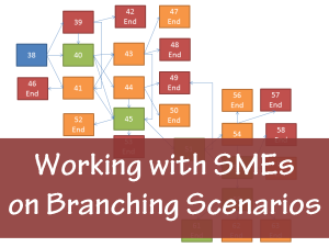 Working with SMEs on Branching Scenarios