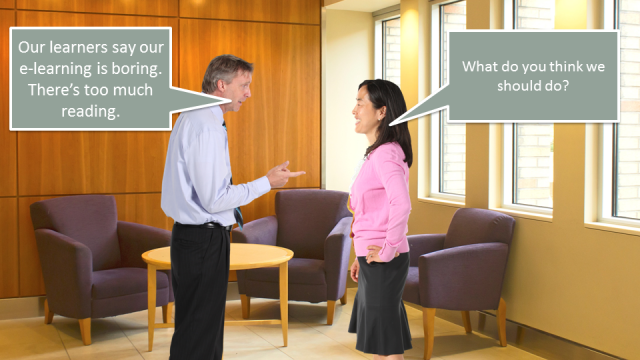 Conversation between two employees