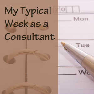 My Typical Week as a Consultant